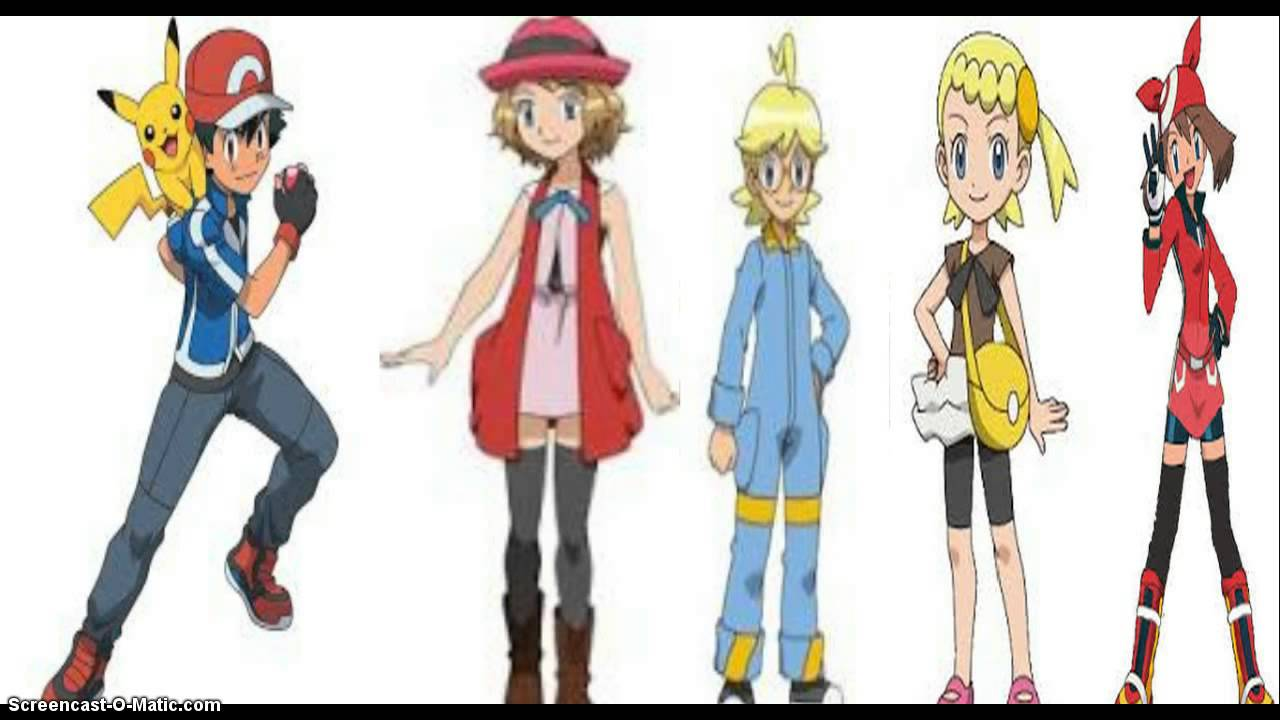 Pokemon And Y Cartoon Characters : Pokemon xy main characters images
