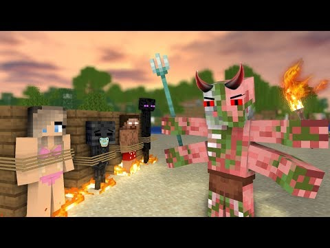 MONSTER SCHOOL : ZOMBIE PIGMAN BECAME EVIL VILLAIN - Sad Minecraft Animation