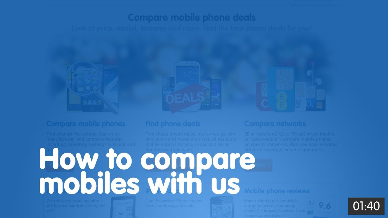 How To Compare Mobiles With Us Broadbandchoices Co Uk Youtube