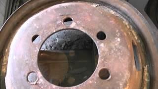 Треснутый газелевский диск . Трещины в районе шпилек возле гайки . Проблемы эксплуатации №10