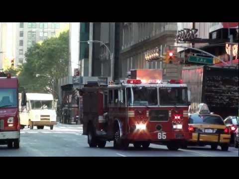 NYFD in Broadway and Middtown Manhattan