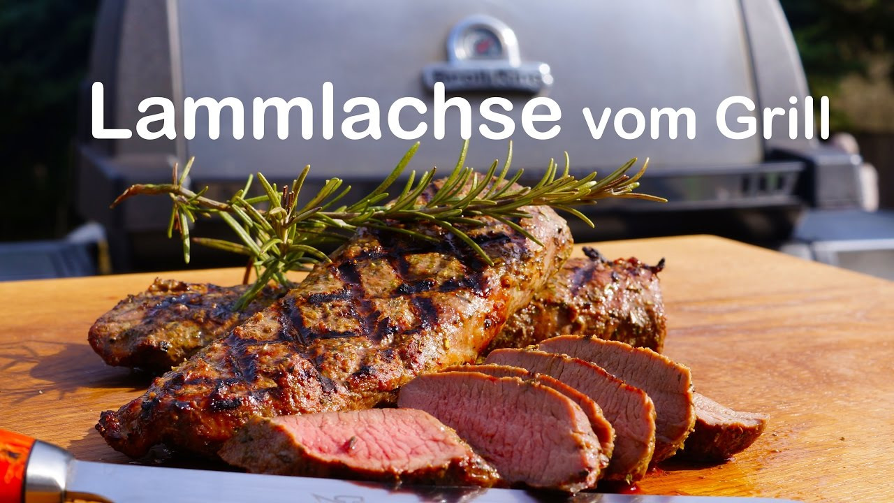 Weber Elektrogrill Lammlachse : Lammlachse vom grill youtube