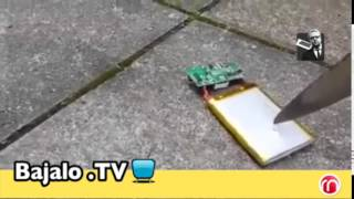 Explosión de bateria de un telefono celular