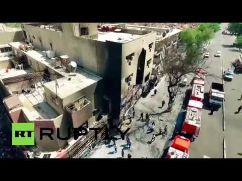'Desperate revenge': Drone captures aftermath of deadly Baghdad bombing