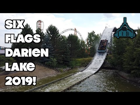 Fun Day At Six Flags Darien Lake With Family (2019)! Coasters, Carnival Games & More!