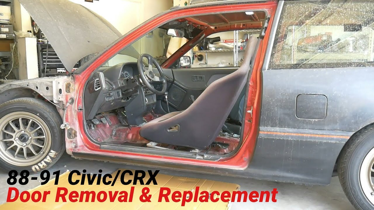 how to remove replace front doors on honda civic crx 88 91 [ 1280 x 720 Pixel ]