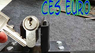 (1075) CES Euro Cylİnder Picked Open