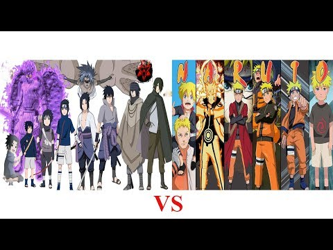 Naruto vs Sasuke  những thay đổi từ 1 đến 28 tuổi