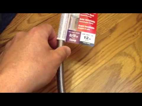 What are stainless steel braided water supply lines