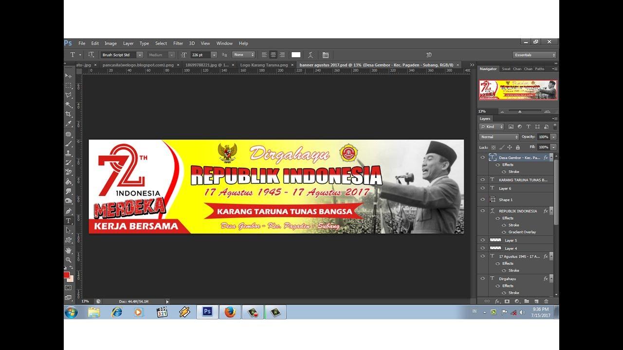 Desain Banner 17 Agustus 2017 Kerja Bersama