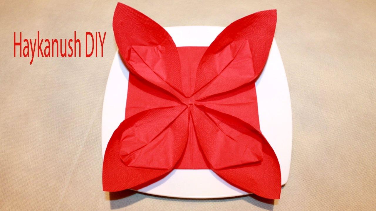 How To Fold Napkins Simple Easy Napkin Folding Tutorial Youtube