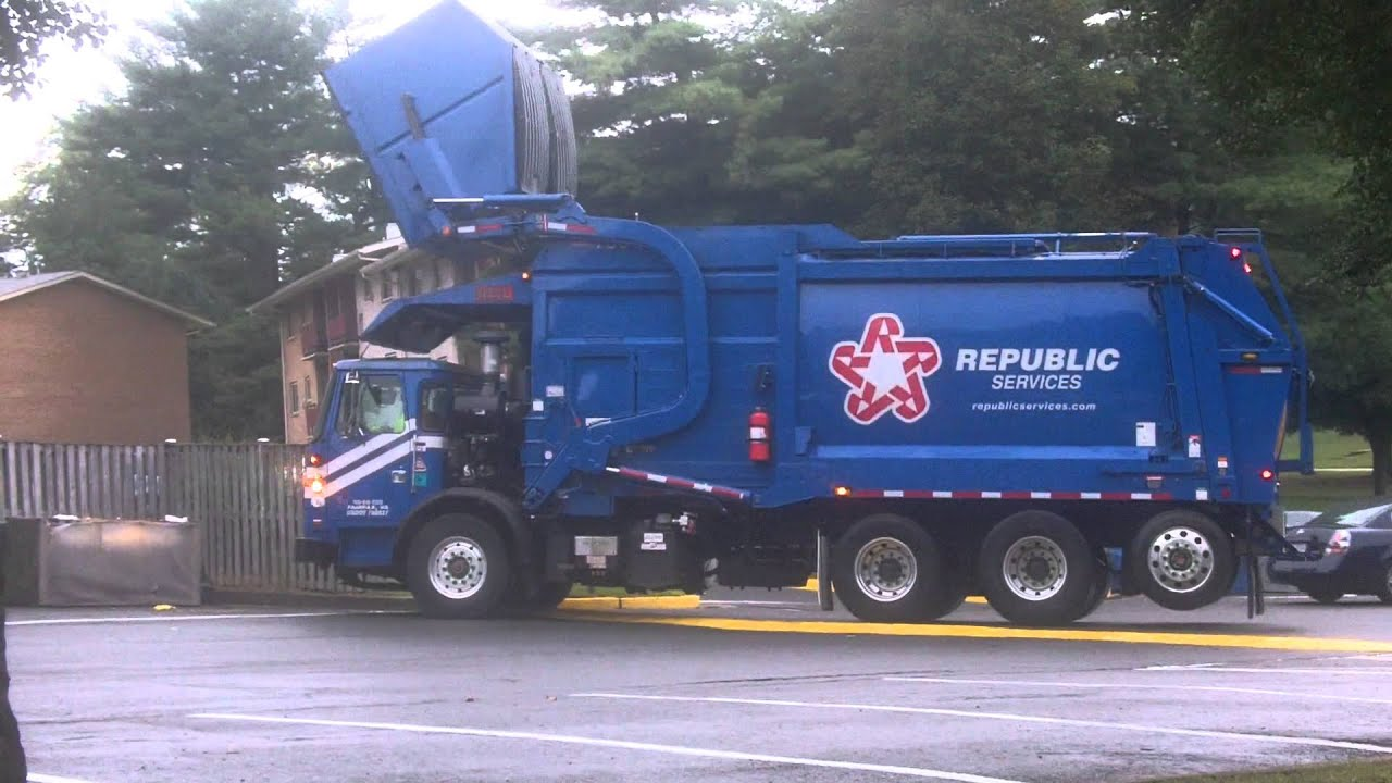 Republic Services Heil Front Loader Youtube