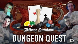 Играем в «Dungeon Quest» на Tabletop Simulator. Часть 1/2
