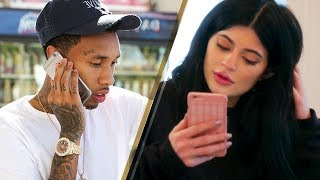 Kylie Jenner Receiving Tyga's Drunk Phone Messages BEHIND Travis Scott's Back!!?
