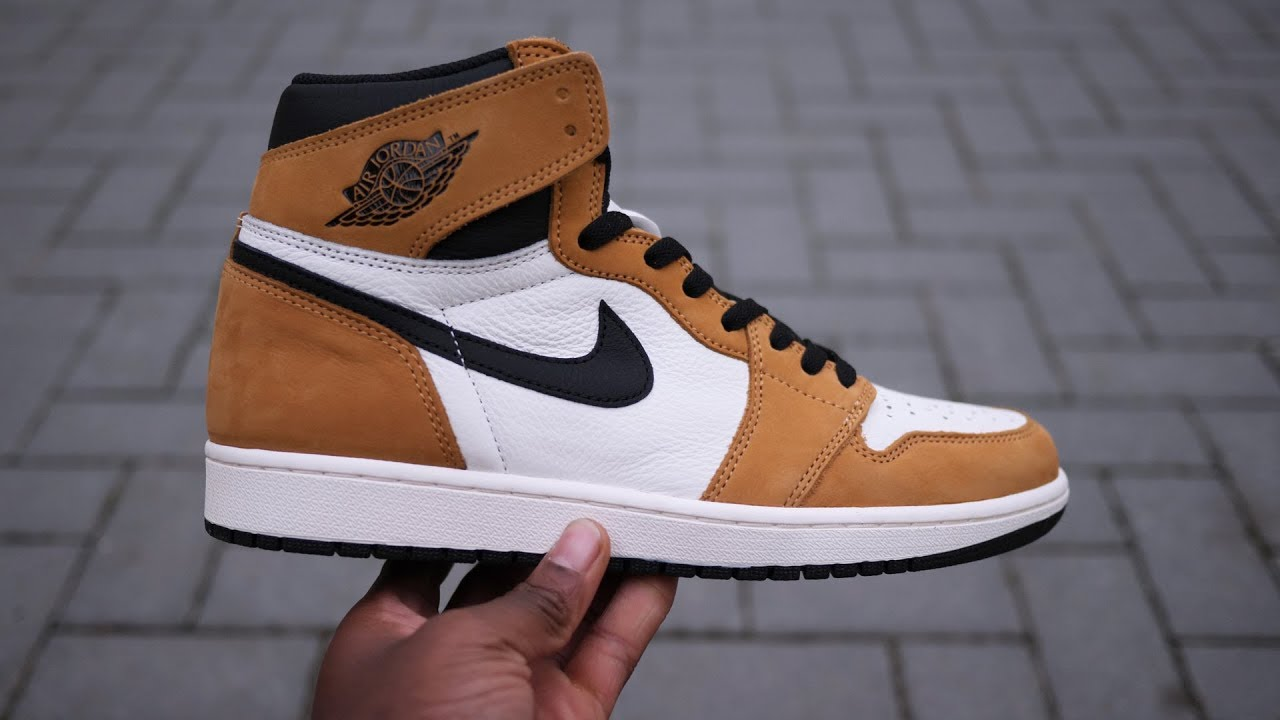 Air Jordan 1 Retro Hi OG  Rookie Of The Year  (Golden Harvest) Unboxing +  Quick Look 75feace1e