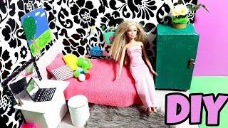 العاب بنات ! اصنعي غرفه نوم لعبه باربي المدهشه  .DIY barbie doll bedroom