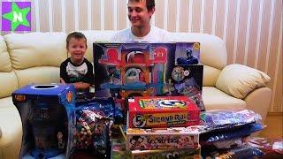 Распаковка подарков на Новый Год, огромная посылка из США 18 кг игрушек. Штаб квартира PJ Masks