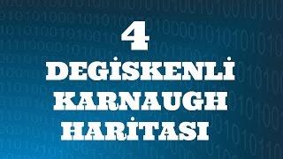 SAYISAL ELEKTRONİK DERSLERİ: Dört Değişkenli Karnaugh Haritası