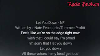 Lirik lagu Nf - Let You Down