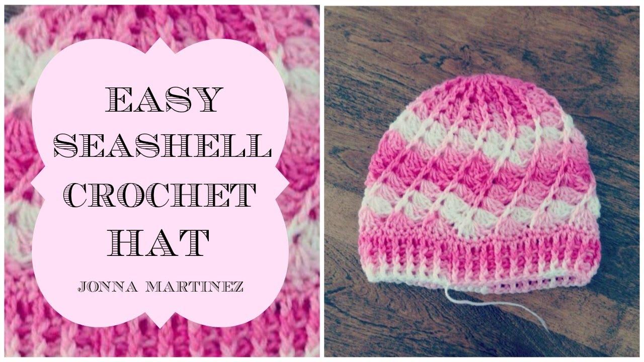 How To Crochet Sea Shell Hat Youtube