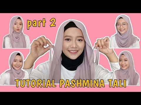 Tutorial Pashmina Tali Gampang Part 2 Cara Pakai Pashmina Tali Ceruty Youtube