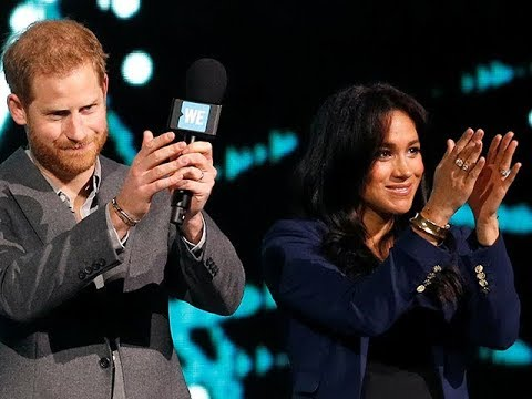 Duchess of Sussex makes surprise appearance at Prince Harry's speech to students