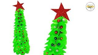 Paper Christmas Tree | Paper Tree Making | Christmas Dollar Tree | Just Craft