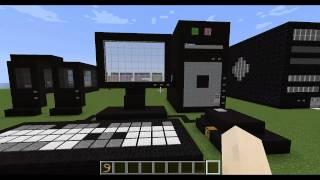 minecraft แข่งสร้างบ้านเป็นรูปคอมพิวเตอร์ 6#