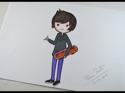 Como Desenhar Bonequinho Tumblr Kawaii Arteeciabrasil1milhao