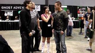 Zak Bagans, Nick Groff, Aaron Goodwin Ghost Adventures Interview at Scarefest 2009 Lex, KY