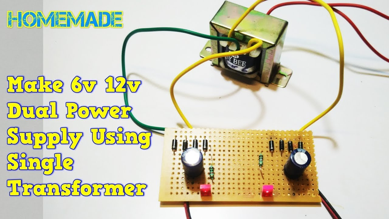 How To Make 6 Volt 12 Volt Dual Power Supply At Home