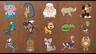 Развивающие мультики-пазлы для детей - Учим животных (1 серия)