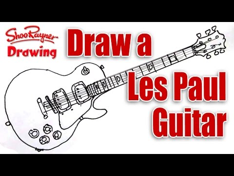 how-to-draw-a-les-paul-electric-guitar