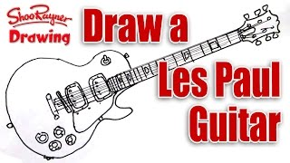 How to draw a Les Paul Electric Guitar