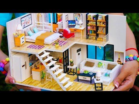 5 Diy Miniature Dollhouse Rooms - Beautiful Miniature Crafts