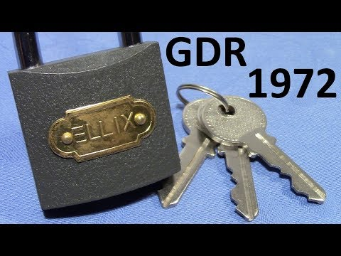 (picking 397) ELLIX - an old lock from the German Democratic Republic made before 1972