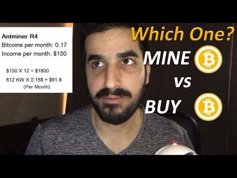 Buy Bitcoin VS Mine Bitcoins - pros / cons