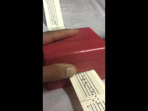 MusicBox - Pachelbel's Canon -15 note music box