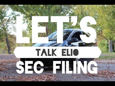 Let's Talk Elio #30: SEC Filing
