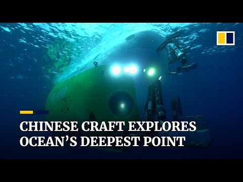 Chinese manned deep-sea submersible gets rare look at deepest ocean depths, the Mariana Trench