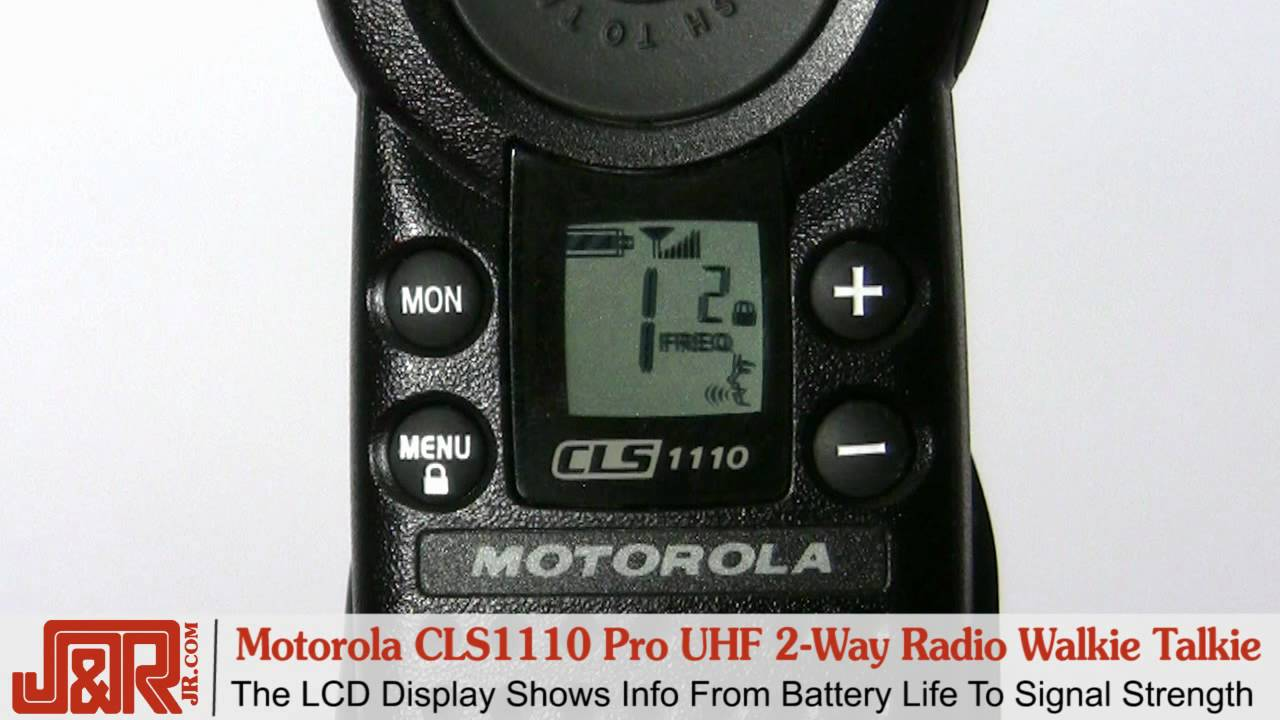 Motorola Business CLS1110 5-Mile 1-Channel UHF Two-Way Radio Two Count