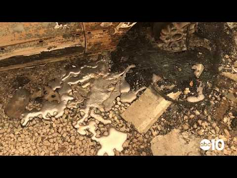 Carr Fire damage: Melted wheels in Redding