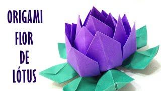 Flor de Lótus Origami | Lotus Flower Origami