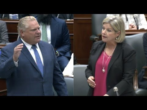 Doug Ford, Andrea Horwath trade barbs over Liberal government spending