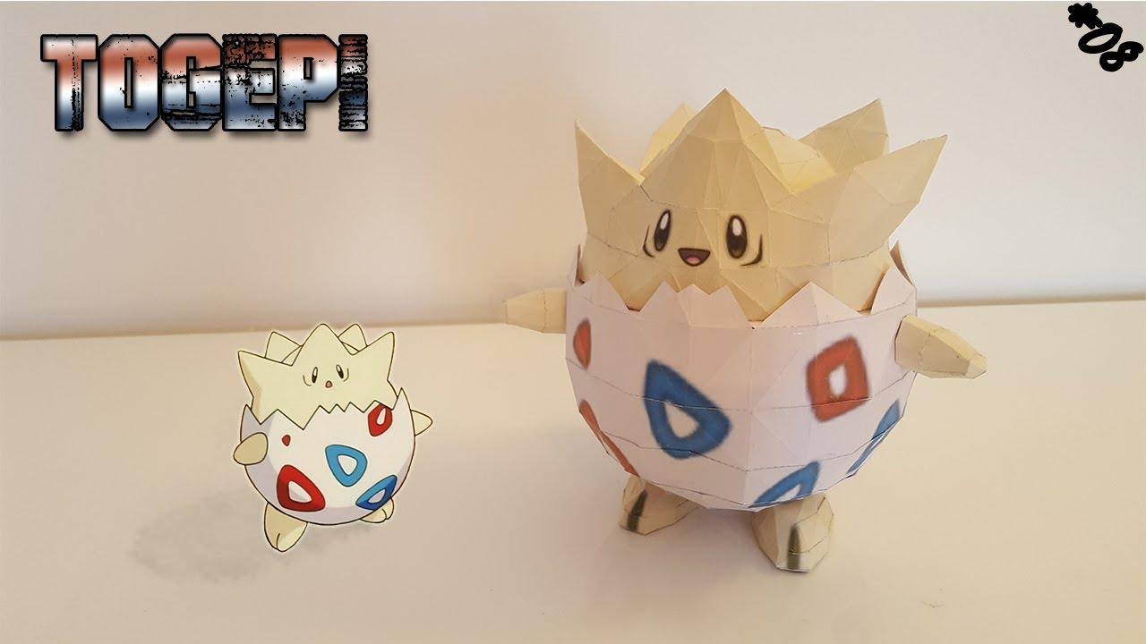 Papercraft Papercraft - Togepi ! Construis ton Pokémon 3D en papier !!