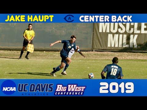 Jake Haupt 2019 UC Davis NCAA D1 Soccer Highlights