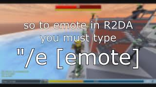 ROBLOX | R2DA All Emotes [ROBLOX Tutorial] (READ DESCRIPTION)