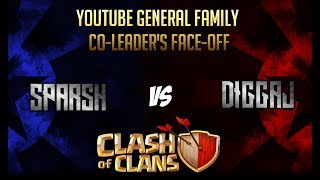 Youtube General Family Co-leaders Faceoff | Sparsh vs Diggaj | Clash of Clans | TH10 ShowDown