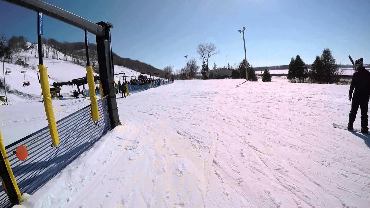 first time snowboarding at chestnut mountain resort, galena