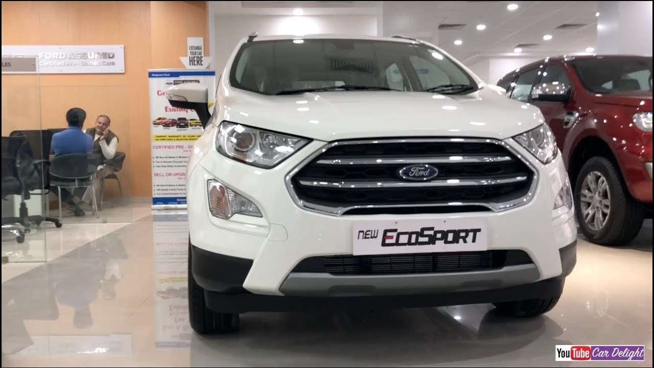 New Ford Ecosport Facelift  White Colour Interior And Exterior Walkaround